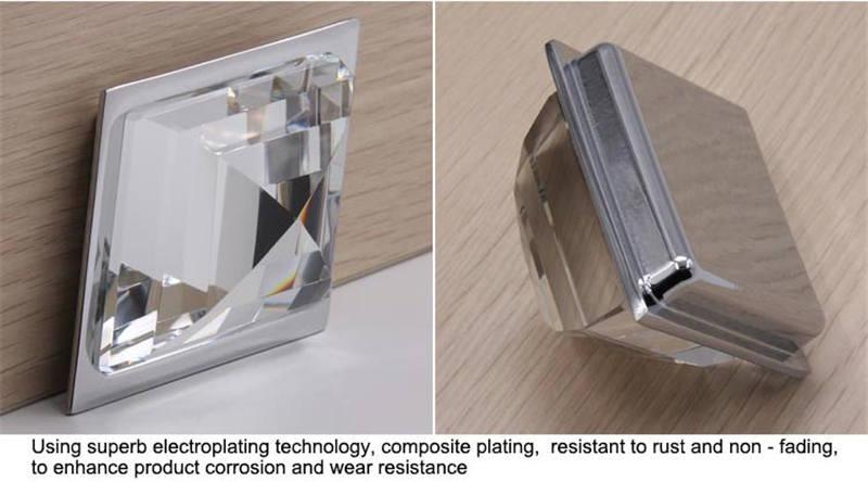 Milk white translucent glass knobs for dresser003