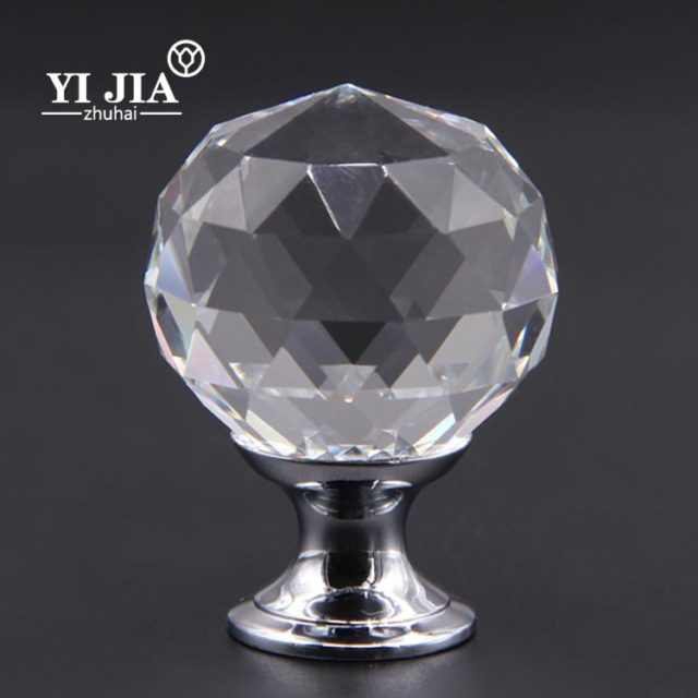diamond cut crystal cabinet knobs and pulls
