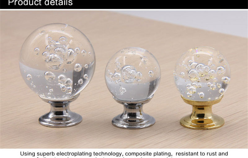 Natural bubble crystal cabinet pulls detail (2)