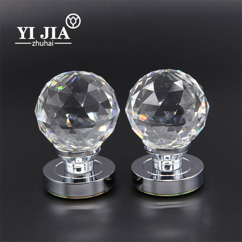 Extra Large Crystal Glass Brass Door Knobs | YiJia Crystal